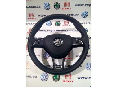 Многофункциональное рулевое колесо Skoda Octavia A7 RS